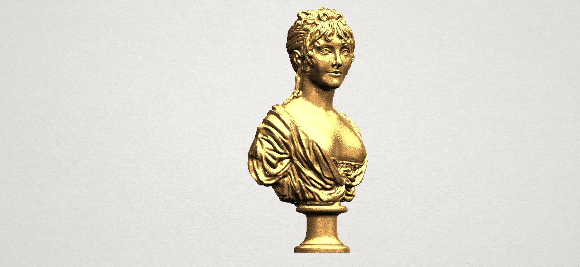 Bust of a girl 01 A07.png Download free STL file Bust of a girl 01 • Object to 3D print, GeorgesNikkei