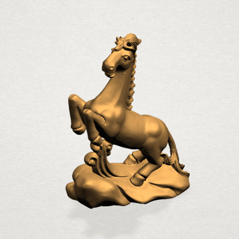 Chinese Horoscope07-A03.png Download free STL file Chinese Horoscope 07 Horse • 3D printer model, GeorgesNikkei