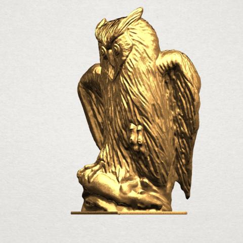 Owl (ii) A02.png Télécharger fichier STL gratuit Hibou 02 • Plan pour imprimante 3D, GeorgesNikkei