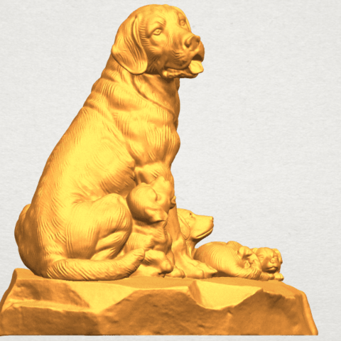 A07.png Download free STL file Dog and Puppy 02 • 3D print design, GeorgesNikkei