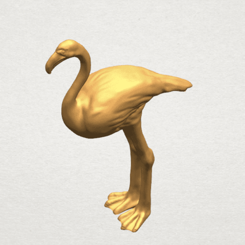 TDA0597 Flamingo 01 A08.png Download free STL file Flamingo 01 • 3D printing model, GeorgesNikkei