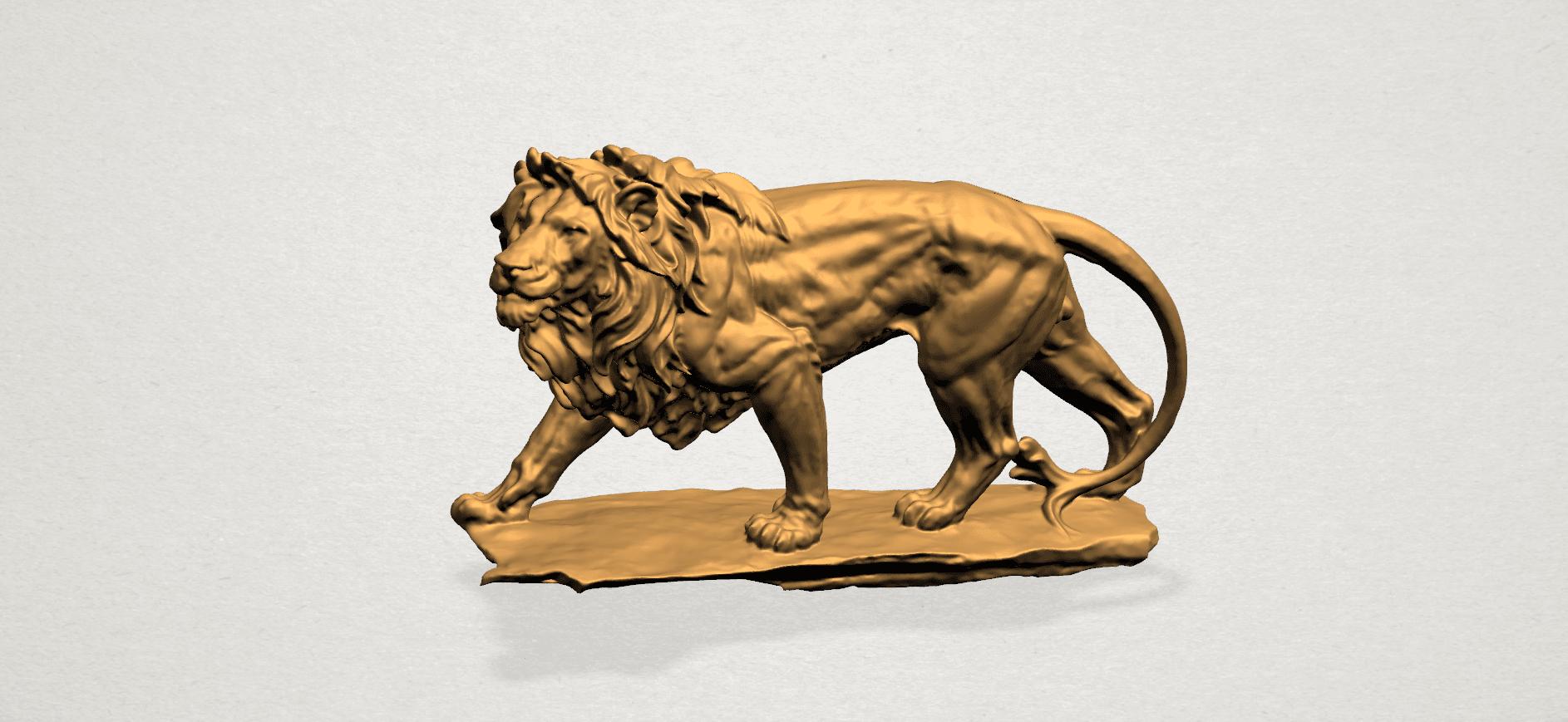 Lion (ii) -50mm-A01.png Télécharger fichier STL gratuit Lion 02 • Design pour impression 3D, GeorgesNikkei