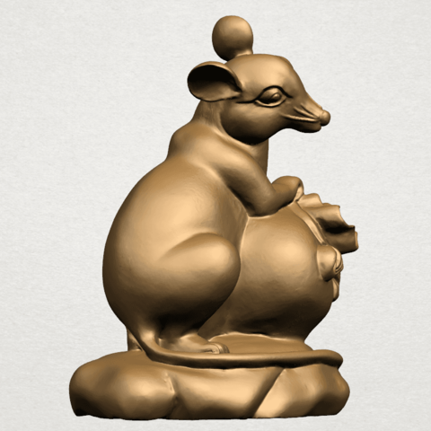 Chinese Horoscope01-A03.png Download free STL file Chinese Horoscope 01 Rat • 3D printing object, GeorgesNikkei