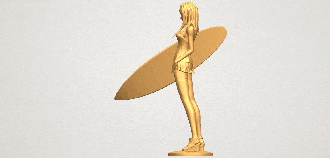 TDA0590 Girl surfing board 02 A04.png Download free STL file Girl surfing board 02 • 3D printable object, GeorgesNikkei