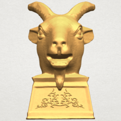 Free STL files Chinese Horoscope of Goat 02, GeorgesNikkei