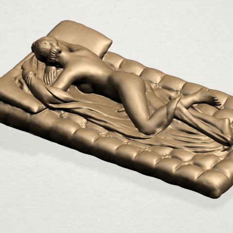 Naked Body Lying on Bed A04.png Download free STL file Naked Girl - Lying on Bed 02 • Object to 3D print, GeorgesNikkei