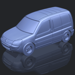 Archivo 3D Citroën Berlingo Bélgica Post, Miketon