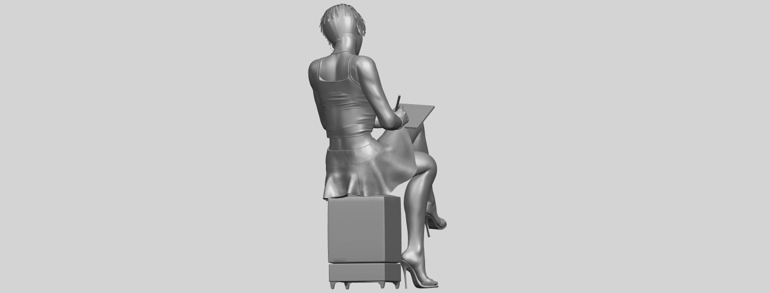 19_TDA0471_Beautiful_Girl_05_A07.png Download free STL file Beautiful Girl 05 • 3D printing template, GeorgesNikkei