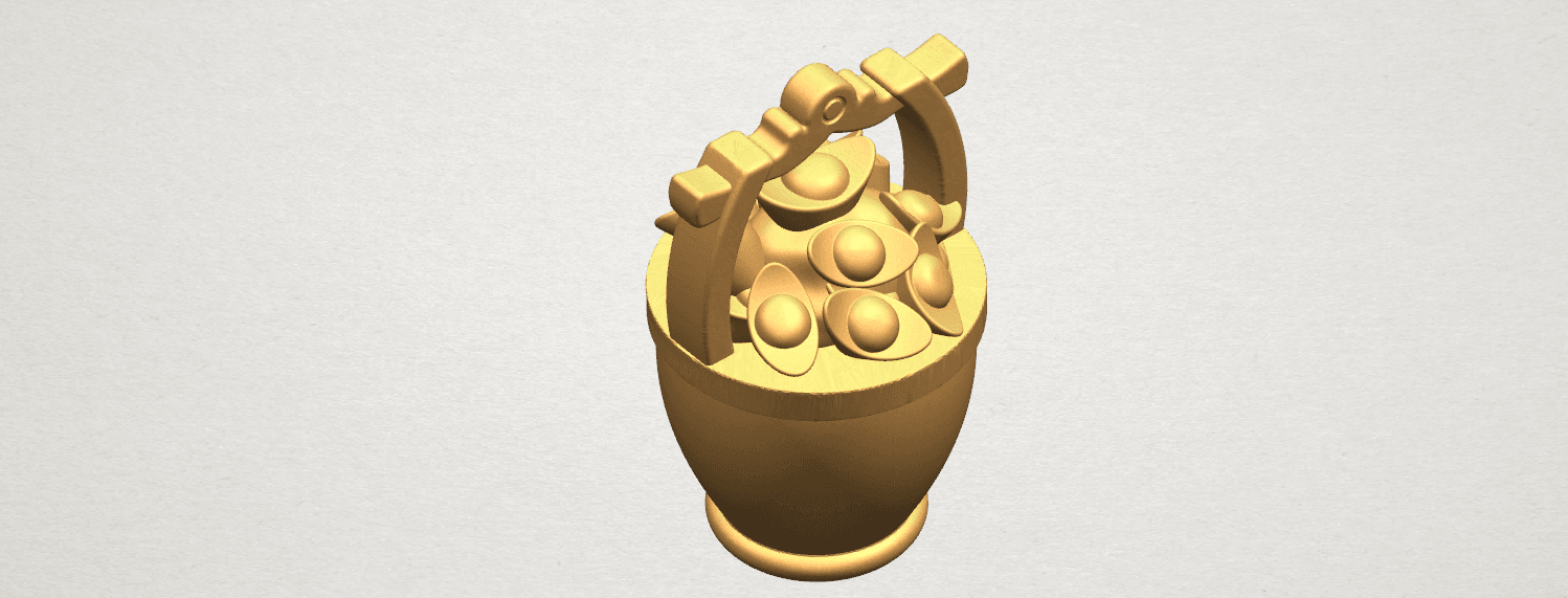 TDA0502 Gold in Bucket A08.png Download free STL file Gold in Bucket • 3D print object, GeorgesNikkei