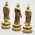 Three Buddha 80mm - A05.png Download free STL file Three Buddha  -TOP MODEL • 3D printable template, GeorgesNikkei