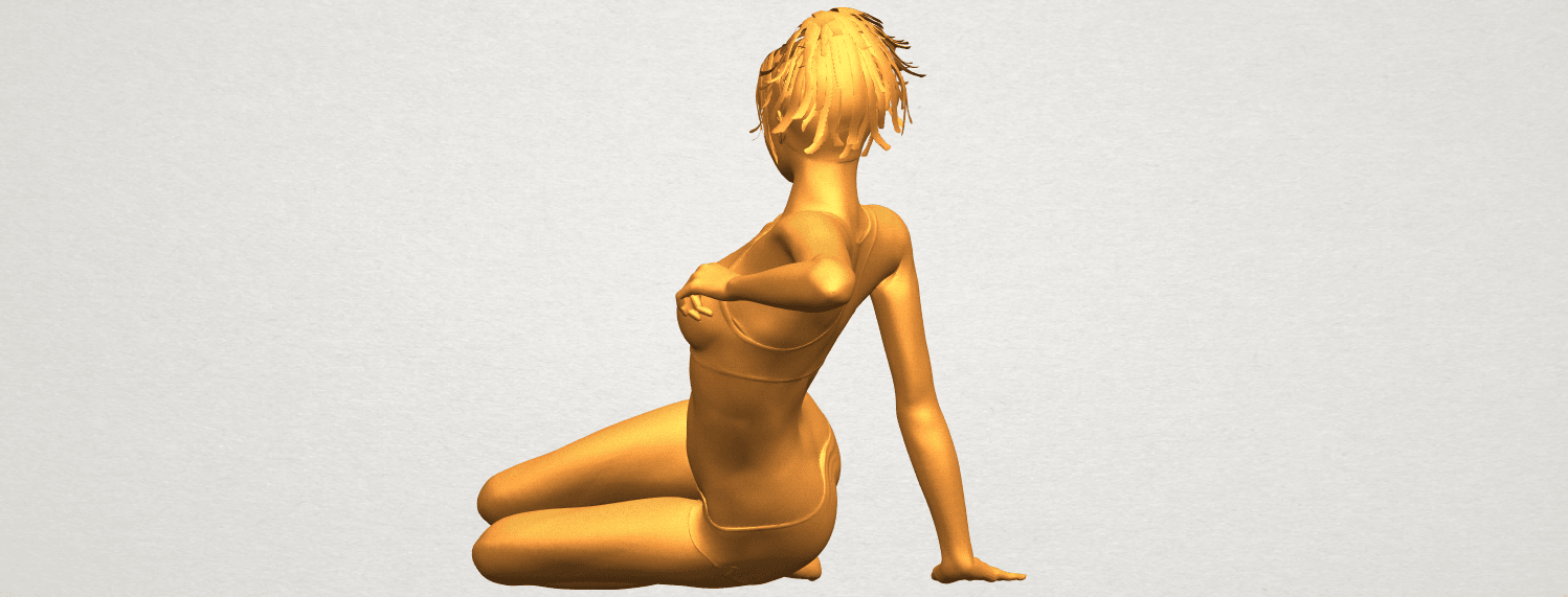 A05.png Download free STL file Naked Girl F03 • Template to 3D print, GeorgesNikkei