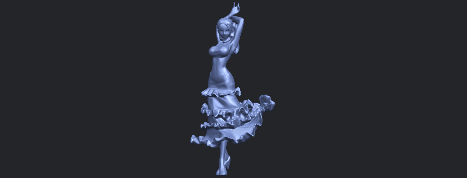 23_Girl_with_Dress_80mm-B05.png Download free STL file Girl with Dress • Object to 3D print, GeorgesNikkei