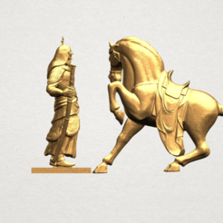 Download free 3D printer model Warrior and Horse, GeorgesNikkei