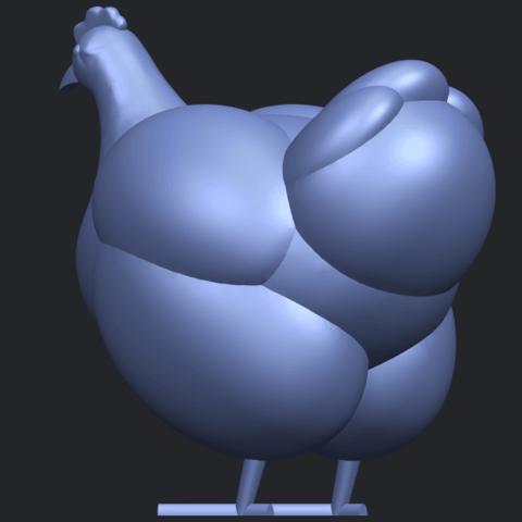 17_TDA0484_HenB05.png Télécharger fichier STL gratuit Poule • Design pour imprimante 3D, GeorgesNikkei