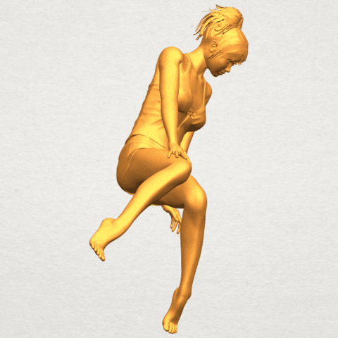 A09.png Download free STL file Naked Girl E04 • Template to 3D print, GeorgesNikkei