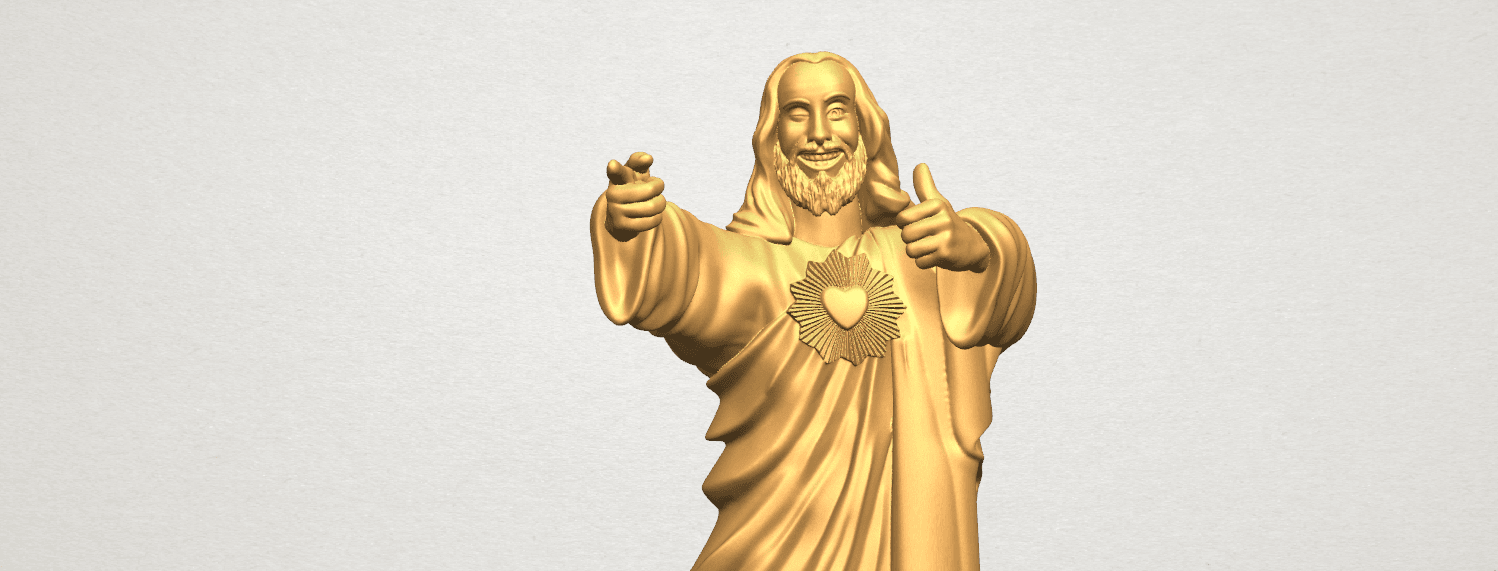 TDA0485 Jesus - Funny A08.png Download free STL file  Jesus - Funny • 3D printer template, GeorgesNikkei