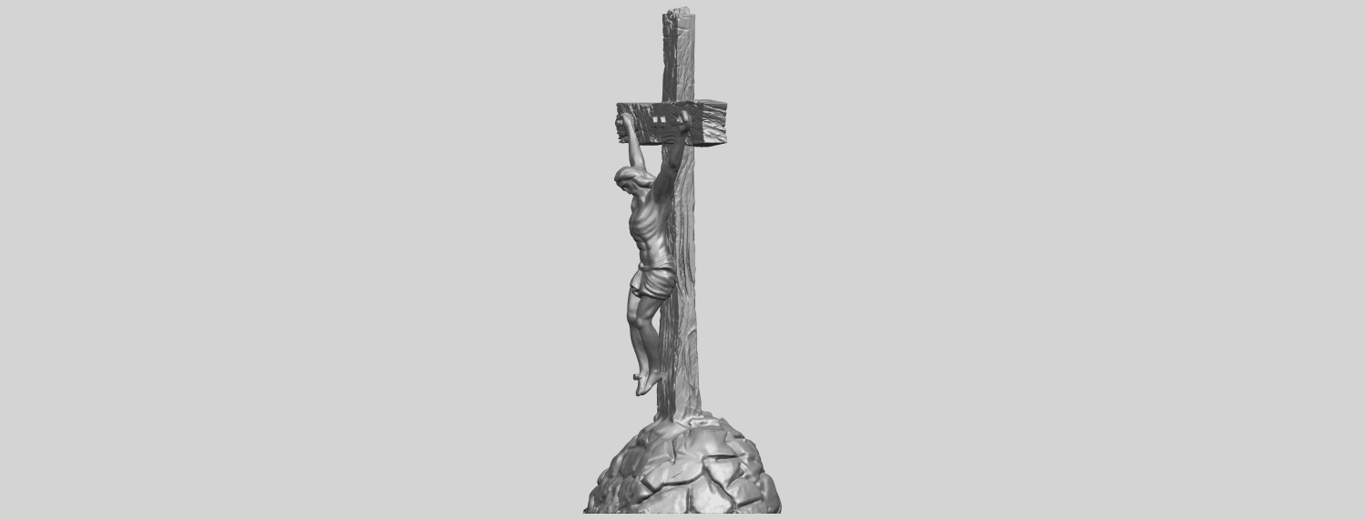 12_TDA0229_Jesus_with_cross_ii_88mmA03.png Download free STL file Jesus with cross 02 • Template to 3D print, GeorgesNikkei