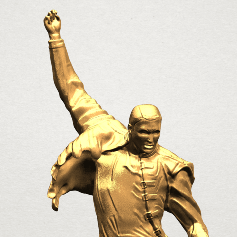 Statue of Freddie Mercury A09.png Download free STL file Statue of Freddie Mercury • 3D printable template, GeorgesNikkei