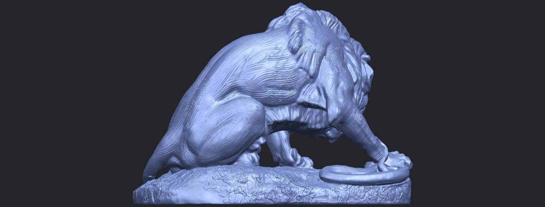 16_Lion_(iii)_with_snake_60mm-B06.png Télécharger fichier STL gratuit Lion 03 - avec serpent • Modèle imprimable en 3D, GeorgesNikkei