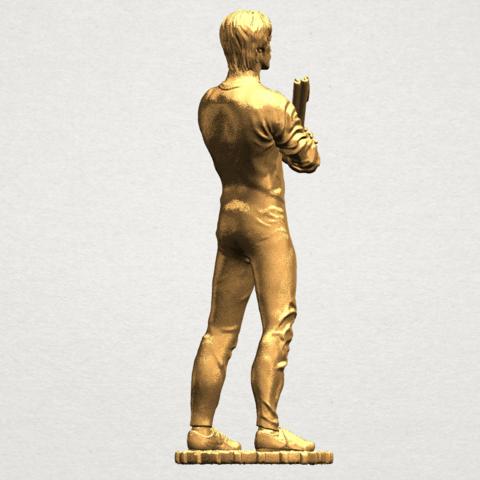 Bruce Lee A06.png Download free STL file Bruce Lee • 3D printing design, GeorgesNikkei