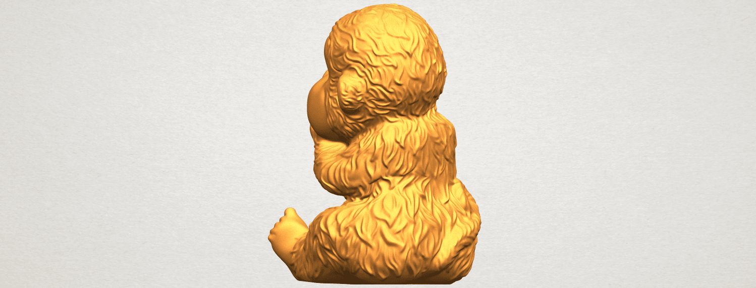 A05.png Download free STL file Monkey A04 • Model to 3D print, GeorgesNikkei