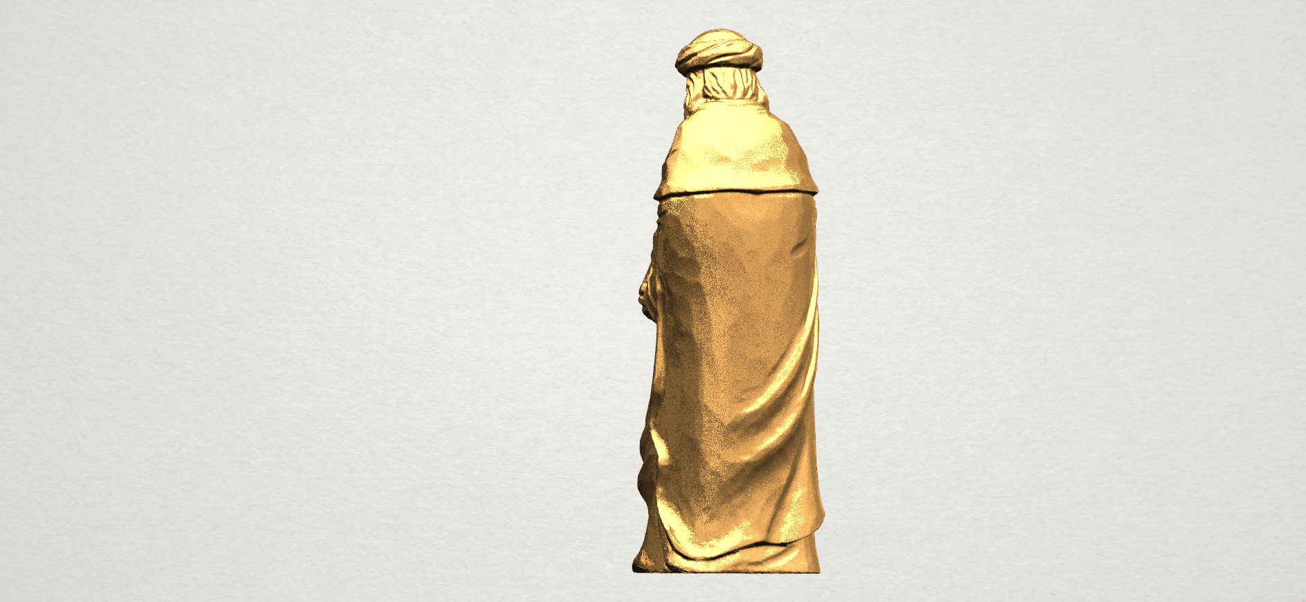 Sculpture of Arabian 88mm - A04.png Download free STL file Sculpture of Arabian • 3D print template, GeorgesNikkei