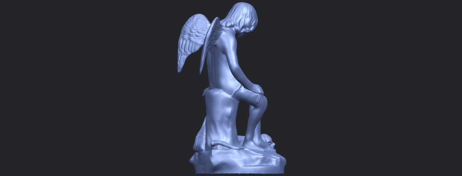 05_Angel_and_Dog_80mmB08.png Download free STL file Angel and Dog • 3D print model, GeorgesNikkei