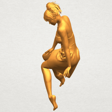 A03.png Download free STL file Naked Girl E06 • 3D printer object, GeorgesNikkei