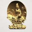 Download free STL files Avalokitesvara Buddha  (Moon Background) , GeorgesNikkei