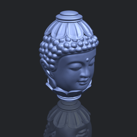11_Buddha_Head_Sculpture_80mmB00-1.png Download free STL file Buddha - Head Sculpture • 3D printing model, GeorgesNikkei