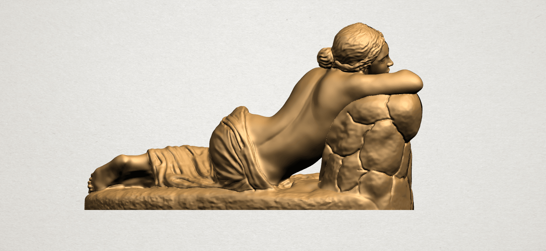 Naked Girl - Lying on Side - A07.png Download free STL file Naked Girl - Lying on Side • 3D printer template, GeorgesNikkei