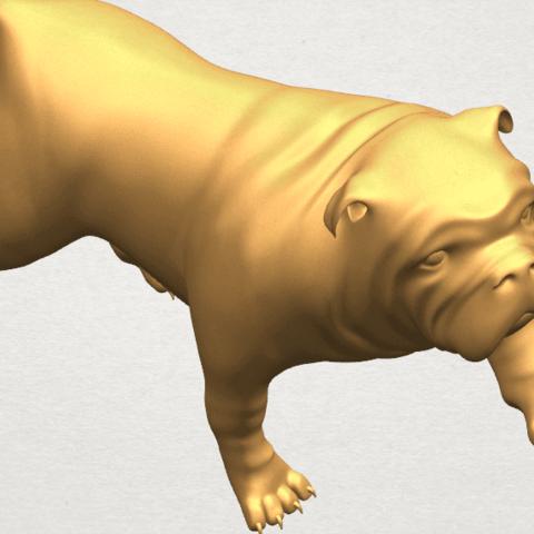 TDA0520 Bull Dog 01 A09.png Télécharger fichier STL gratuit Chien de taureau 01 • Plan pour impression 3D, GeorgesNikkei