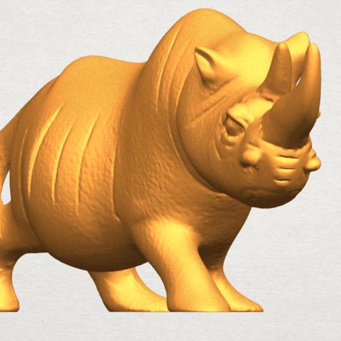 TDA0310 Rhinoceros (ii) A05.png Download free STL file Rhinoceros 02 • 3D printing model, GeorgesNikkei