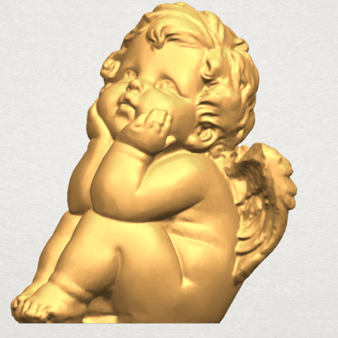TDA0481 Angel Baby 04 A08.png Download free STL file Angel Baby 04 • 3D printable template, GeorgesNikkei