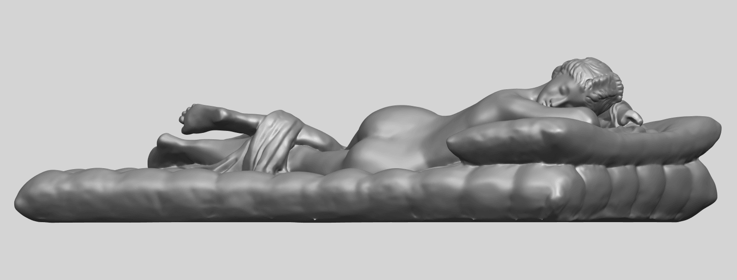 01_Naked_Body_Lying_on_Bed_ii_31mmA02.png Download free STL file Naked Girl - Lying on Bed 02 • Object to 3D print, GeorgesNikkei