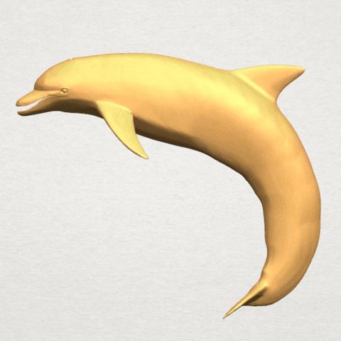 TDA0613 Dolphin 03 A01.png Télécharger fichier STL gratuit Dauphin 03 • Objet pour impression 3D, GeorgesNikkei