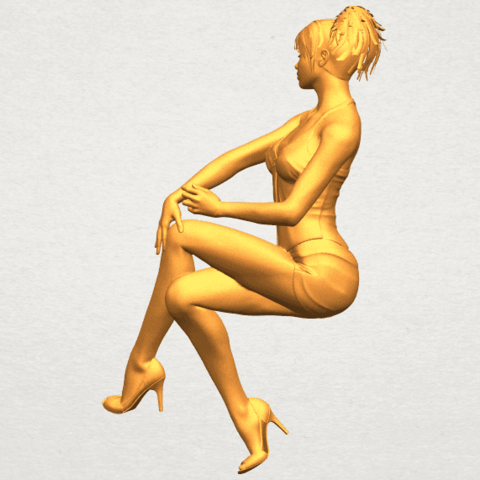 A07.png Download free STL file Naked Girl H05 • 3D printable object, GeorgesNikkei