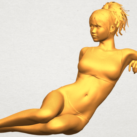 A02.png Download free STL file Naked Girl F03 • Template to 3D print, GeorgesNikkei