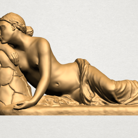 Naked Girl - Lying on Side - A01.png Download free STL file Naked Girl - Lying on Side • 3D printer template, GeorgesNikkei