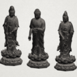 Three Buddha 80mm - B02.png Download free STL file Three Buddha  -TOP MODEL • 3D printable template, GeorgesNikkei