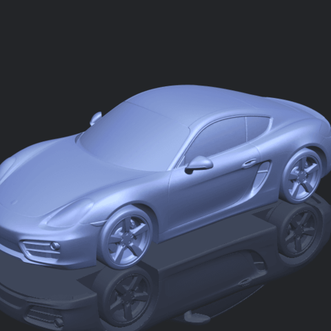 16_TDA0304_Porche_01_Length438mmB00-1.png Download free STL file Porche 01 • 3D printable object, GeorgesNikkei