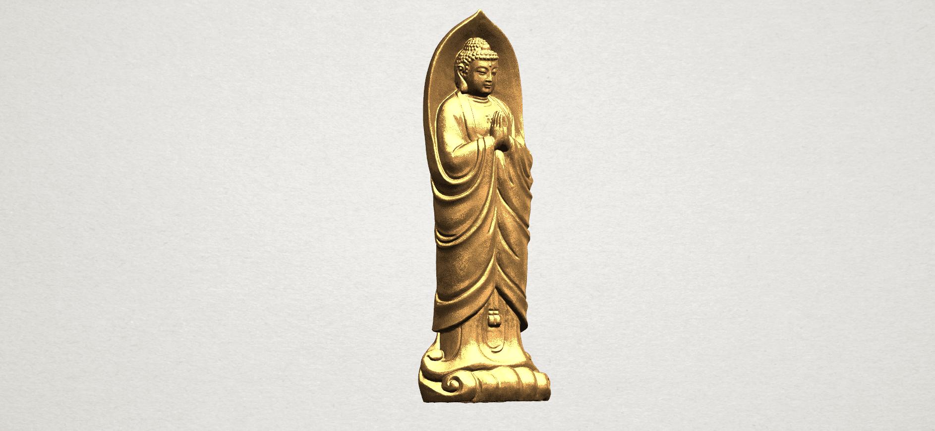 Gautama Buddha Standing (iv) A07.png Download free STL file Gautama Buddha Standing 04 • 3D printable design, GeorgesNikkei