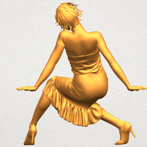 A06.png Download free STL file Naked Girl G05 • 3D printing object, GeorgesNikkei