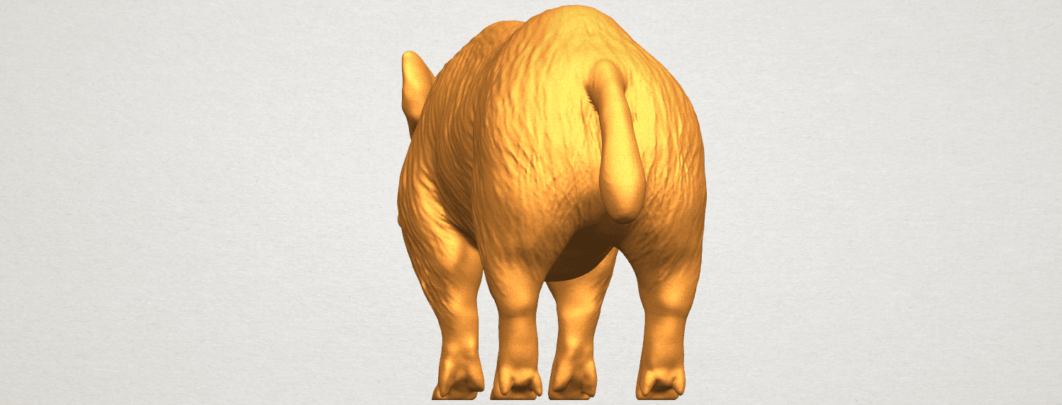 TDA0320 Pig (ii) A03.png Download free STL file Pig 02 • 3D printable object, GeorgesNikkei