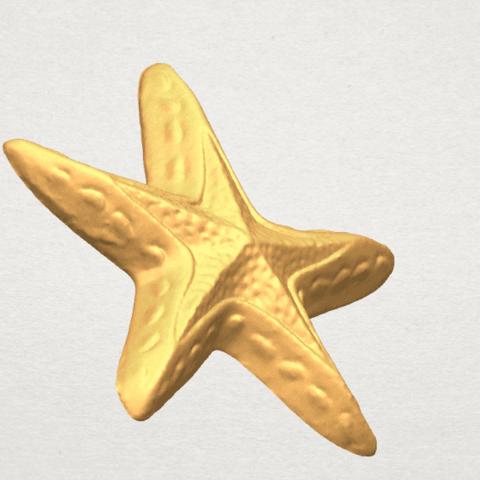 TDA0607 Starfish 01 A03.png Télécharger fichier STL gratuit Étoile de mer 01 • Design à imprimer en 3D, GeorgesNikkei