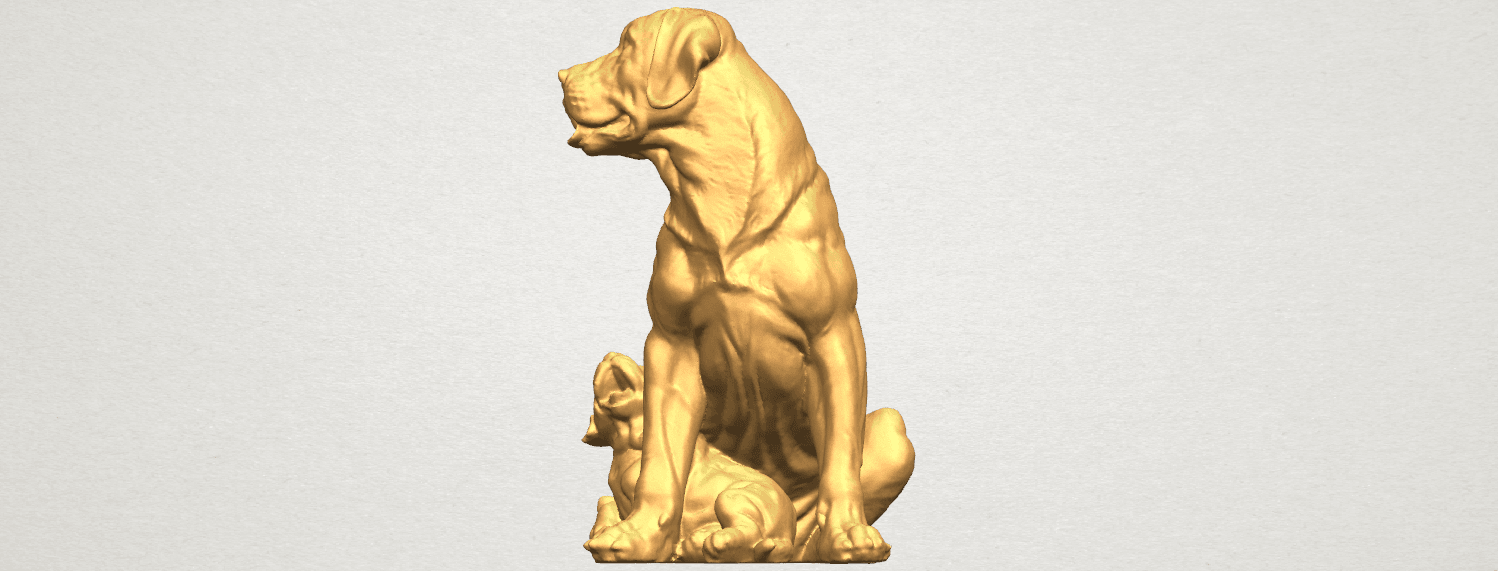 TDA0526 Dog and Puppy A05.png Download free STL file Dog and Puppy 01 • Model to 3D print, GeorgesNikkei