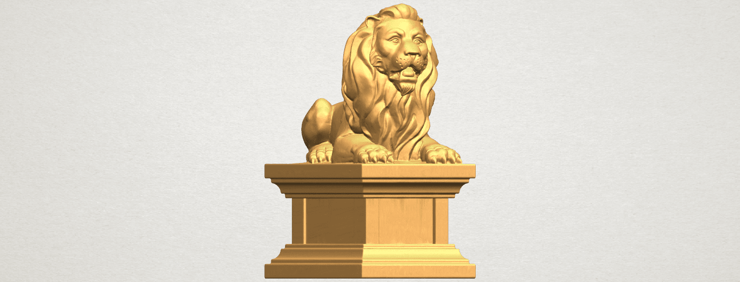 TDA0499 Lion 04 A07.png Download free STL file Lion 04 • Template to 3D print, GeorgesNikkei