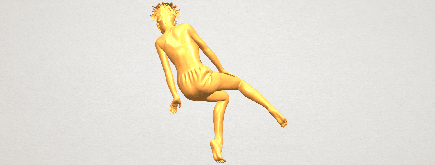 A06.png Download free STL file Naked Girl E05 • 3D print object, GeorgesNikkei