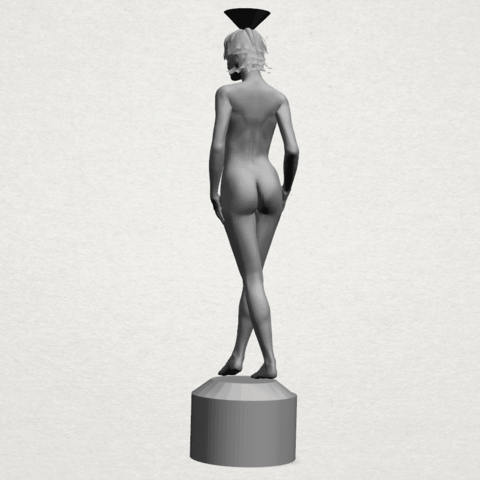Naked girl-vase-A04.png Download free STL file Naked Girl with Vase on Top (i) • 3D print template, GeorgesNikkei