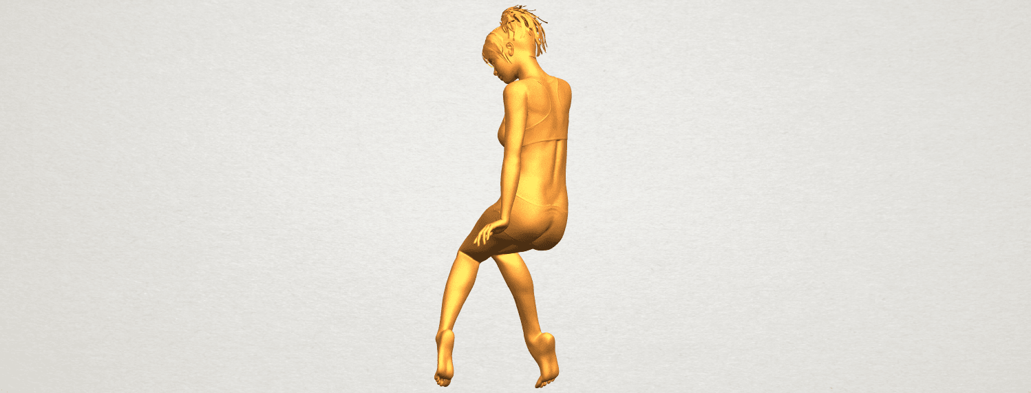 A05.png Download free STL file Naked Girl E03 • 3D printable template, GeorgesNikkei
